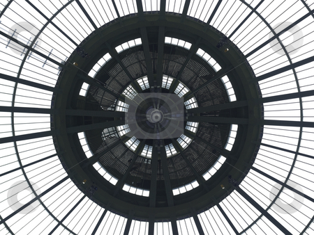 Circular pattern stock photo, Art nouveau dome view from underneath. by Ignacio Gonzalez Prado