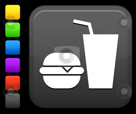 Fast Food Icon Vector Fast Food Icon on Square