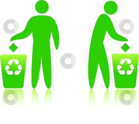 Recycling can stock vector clipart, Original Vector Illustration: recycling can  AI8 compatible by L Belomlinsky