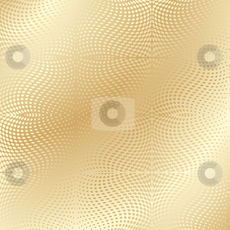Gold texture stock photo, Gold texture, warped dots pattern by Richard Laschon