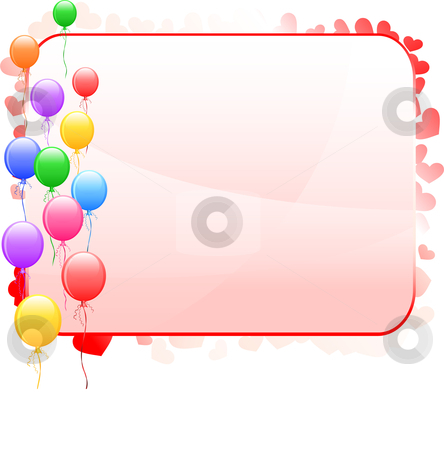 Balloon Frame Background stock vector clipart, Balloon Frame
