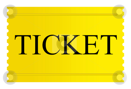 Golden ticket stock photo, Golden ticket isolated on a white background. by Martin Crowdy