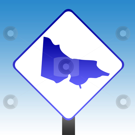 Victoria Sign stock photo, Australia state of Victoria road sign with blue sky background. by Martin Crowdy