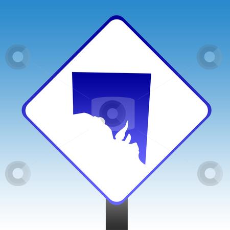 Southern Australia Sign stock photo, Australia state of Southern Australia road sign with blue sky background. by Martin Crowdy