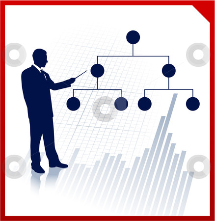 Businessman presentation with diagram stock vector clipart, Businessman presentation with diagram Original Vector Illustration Businessmen Concept by L Belomlinsky