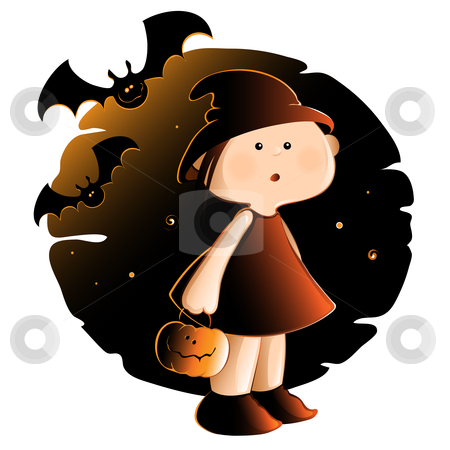 Halloween stock vector clipart, Halloween Illustration. by Neda Sadreddin