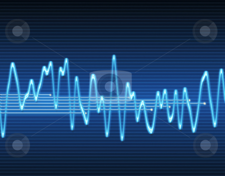 Electronic sine sound wave stock vector clipart, Large image of an electronic sine sound or audio wave by Phil Morley