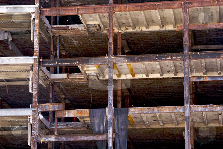 Open building stock photo, Three floors of a building being torn down showing the interior by Stephen Orsillo