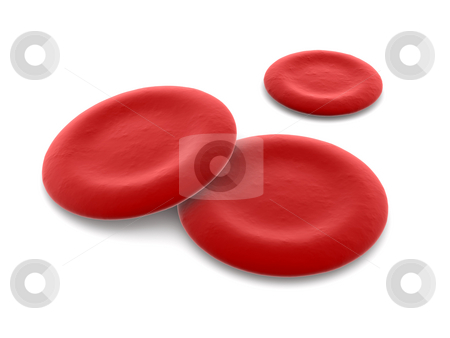 Hemoglobin Cells stock photo, Hemoblogin Cells. 3D rendered Illustration. by Michael Osterrieder