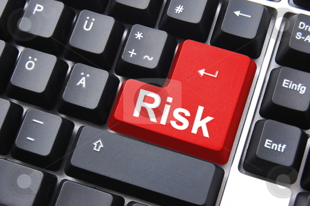 Risk management stock photo, Business risk management with computer keyboard enter button by Gunnar Pippel
