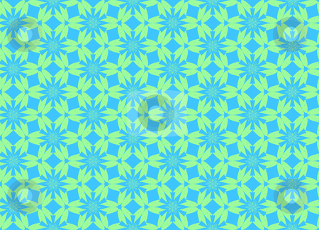 Wallpaper pattern stock photo, Wallpaper pattern on the blue background by Nikolaj Kondratenko