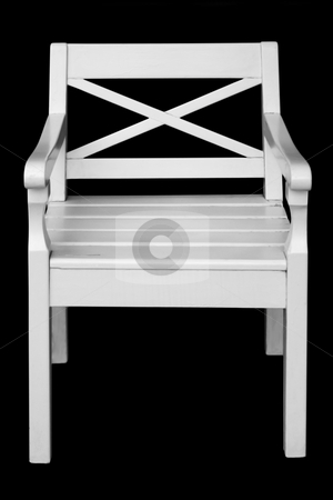Chair stock photo, Chair for the rest. Isolated on black background. by Nikolaj Kondratenko