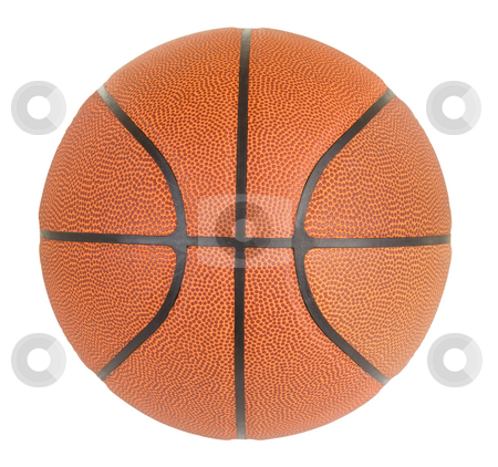 Basketball stock photo, This is a close-up of a basketball. by Denis Pepin