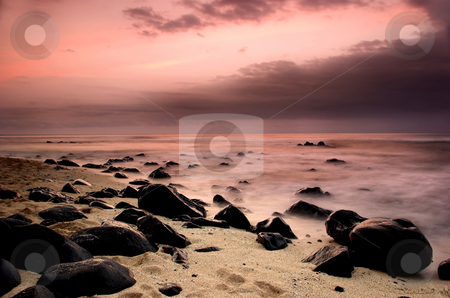 Equator Beach stock photo, Beautiful sunset of an amazing beach in Sao Tom? - Equator by ikostudio
