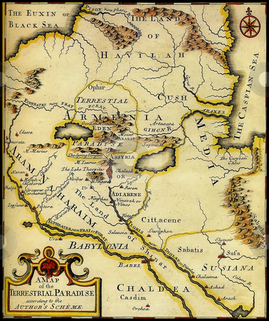 Map of ancient Armenia,Babylonia,Mesopotamia. stock photo, Map of ancient Armenia,Babylonia,Mesopotamia. by Mikhail Pogosov