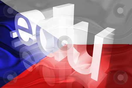 Czechoslovakia flag wavy education stock photo, Flag of Czechoslovakia, national symbol illustration clipart wavy edu education website by Kheng Guan Toh