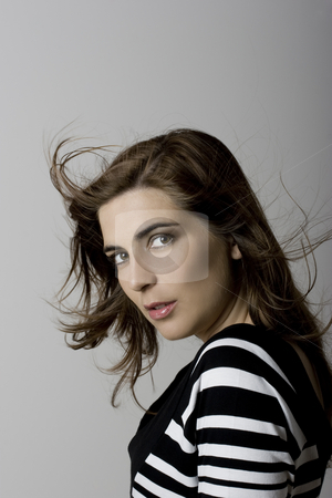 Beautiful young woman  stock photo, Beautiful young woman portrait by ikostudio