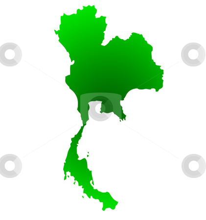 Map of Thailand stock photo, Map of Thailand isolated on a white background. by Martin Crowdy