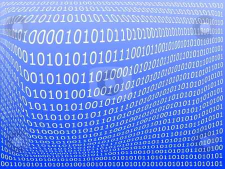 Computer data background stock photo, Binary computer data background with 1 and 0 by Gunnar Pippel