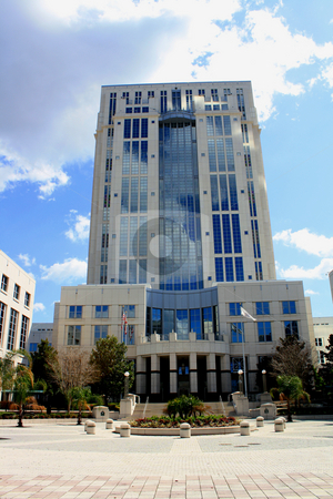 Courthouse, Orlando, Florida, USA stock photo, Courthouse in downtown Orlando, Florida, USA, looking up from the base of the building in front. by Carl Stewart