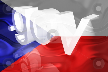 Czechoslovakia flag wavy government stock photo, Flag of Czechoslovakia, national symbol illustration clipart wavy gov government website by Kheng Guan Toh