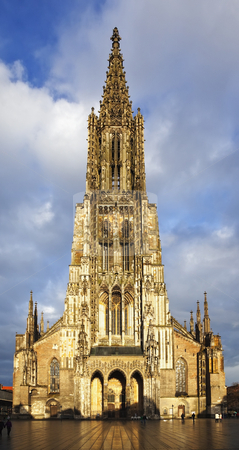 Ulm stock photo, A photography of the beautiful church in Ulm Germany by Markus Gann