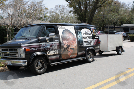 Pro-life Van stock photo, A pro-life van, photographed at a demonstration in Orlando, Florida in March, 2010.  Editorial use only. by Carl Stewart