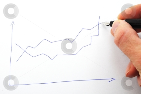 Financial graph stock photo, Financial graph showing business growth and success by Gunnar Pippel