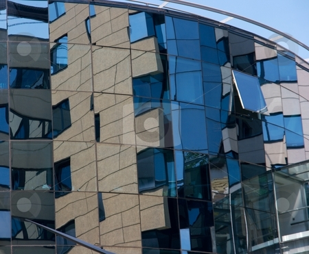 Building stock photo, Detail of a modern glass office building by P?