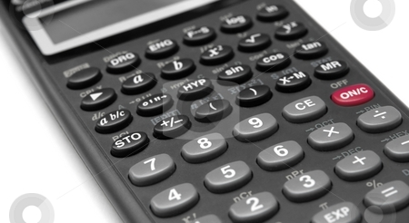 Calculator stock photo, Closeup of the numpad of a scientific calculator by P?