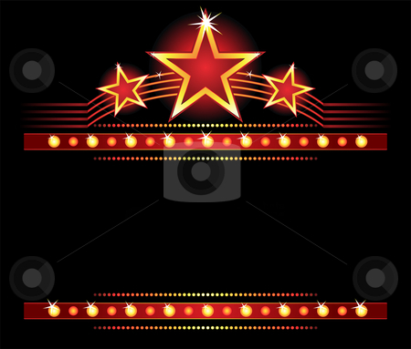 Stars over copyspace stock vector clipart, Big stars over place for your text by Oxygen64