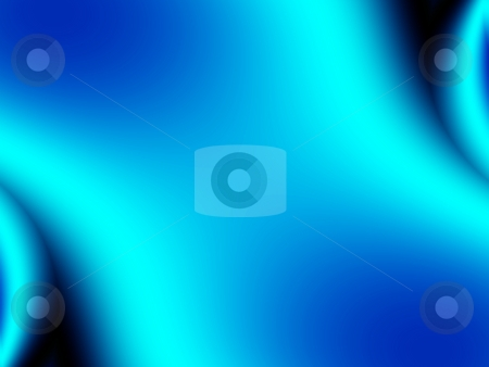 Fractal stock photo, Simple, smooth, blue computer generated fractal background by P?