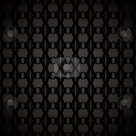 Floral link wallpaper black stock vector clipart, Abstract black background with seamless tile with floral effect by Michael Travers