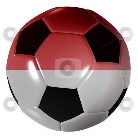 Football monaco flag stock photo, Traditional black and white soccer ball or football monaco flag by Michael Travers