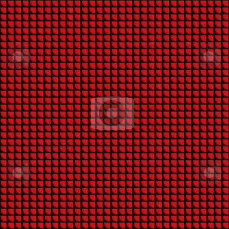 Red tile roof stock vector clipart, Seamless red roof tile design with square background design by Michael Travers