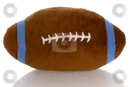 Stuffed football stock photo, Stuffed toy football with reflection on white background by John McAllister