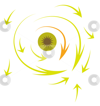 Arrow stock photo, Drawing of many arrows in a white background by Su Li