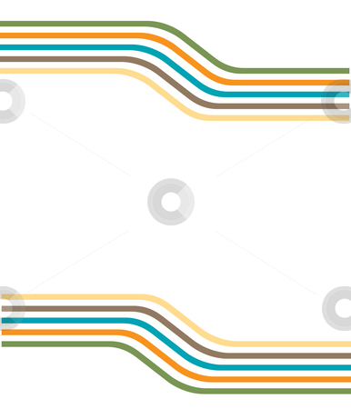 Color lines stock photo, Drawing of beautiful lines in a white background by Su Li