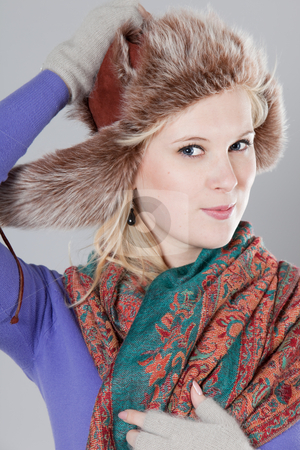 Woman at winter stock photo, Young adult woman wearing winter clothing by Ruta Balciunaite