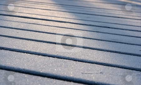 Frost stock photo, Small perticles of frost on lumber bars by P?