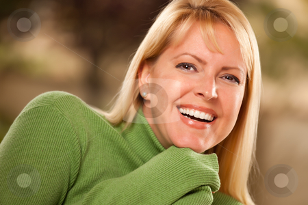 Attractive Brown Eyed Woman Portrait stock photo, Attractive Brown Eyed Blonde Caucasian Woman Portrait. by Andy Dean