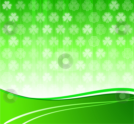 Green clover leaf background stock vector clipart, Original Vector Illustration: green clover leaf background AI8 compatible by L Belomlinsky