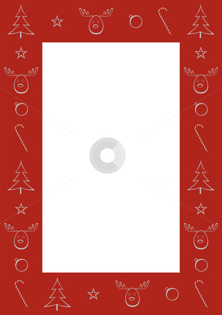 Christmas border stock photo, A red Christmas border with Christmas related motifs by Mihai Zaharia