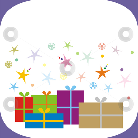 Presents stock photo, An illustration of many presents in coloured boxes by Mihai Zaharia