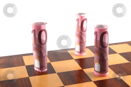 Chess stock photo, Some chessman isolated on a white background. by Gunnar Pippel