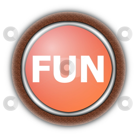 Party fun stock photo, Party or fun button for a happy day isolated on white by Gunnar Pippel