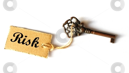 Risk management stock photo, Risk management concept with old key showing success by Gunnar Pippel
