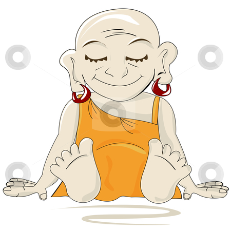 Little Buddha stock vector clipart, Little Buddha by Richard Laschon
