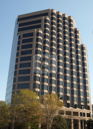 In the city stock photo, A large city office building in Greensboro, North Carolina by Tim Markley