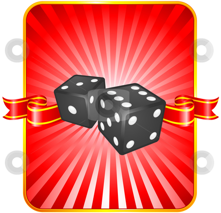 Black Dice on Background stock vector clipart, Black Dice on Background Original Vector Illustration Dice Ideal for Game Concept by L Belomlinsky